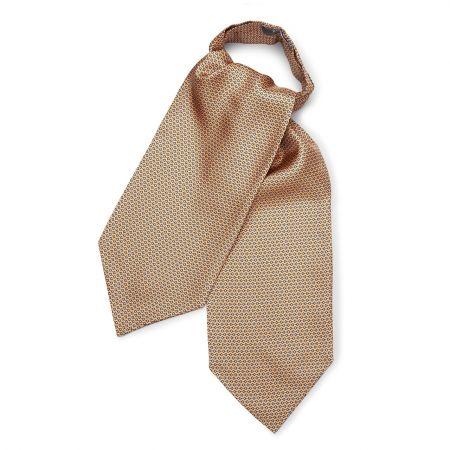 Horse Bit Foulard Silk Cravat in Gold