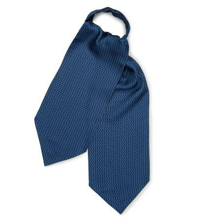 Horse Bit Foulard Silk Cravat in Royal