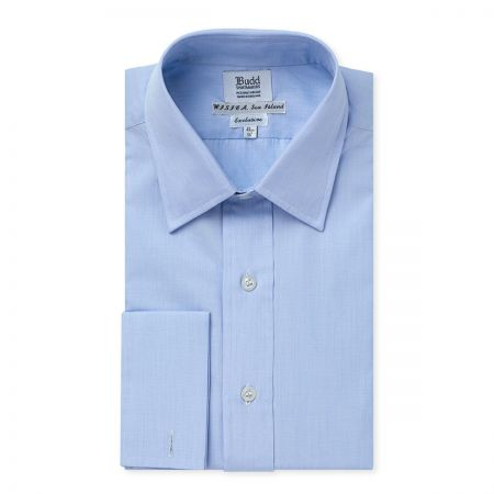 Exclusive End on End Sea Island Cotton Shirt in Sky