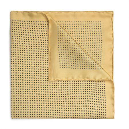 Neat Pinwheel Silk Pocket Square in Yellow
