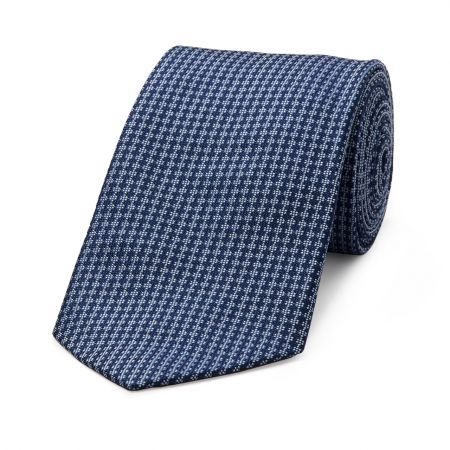 Diced Check Woven Tie in Royal