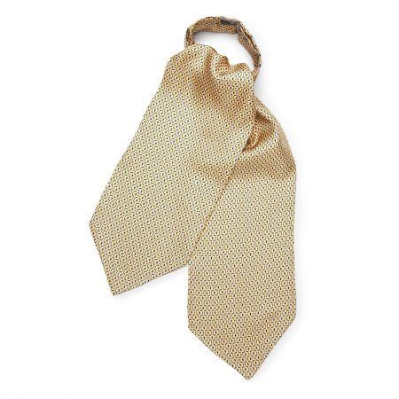Looping Foulard Silk Cravat in Lemon