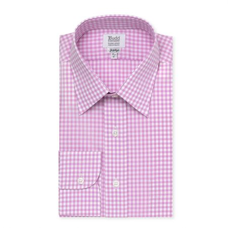 Zephyr Check Shirt in Lilac