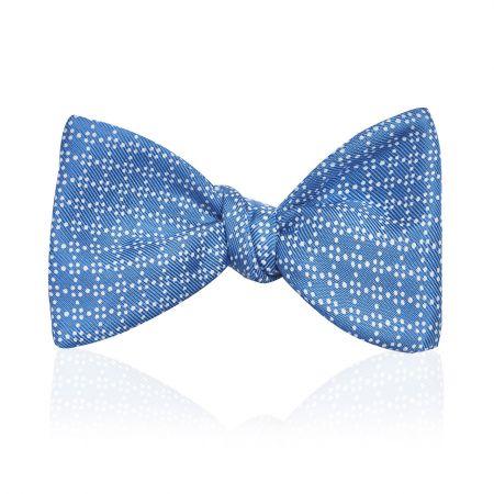 Geometric Spot 2.5 Inch Thistle Bow Tie in Sky Blue - Self Tie Adjustable