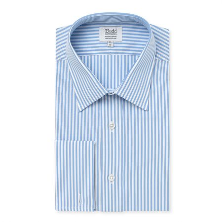 Superpoplin Bengal Stripe Shirt in Blue