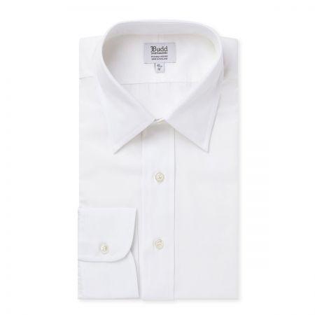 Button Cuff Poplin Shirt in White