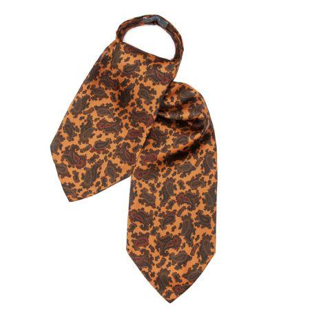 Medium Paisley Silk Cravat in Copper