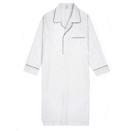 Fine Multi Stripe Soyella Nightshirt in Orange