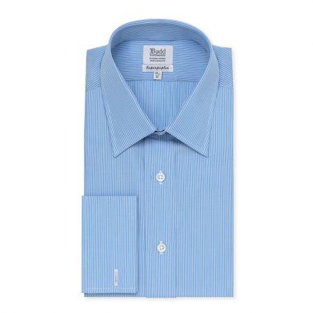 Superpoplin Narrow Stripe Shirt in Blue
