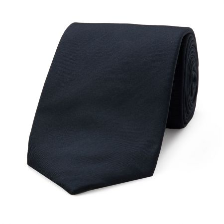 Plain Seven Fold Tie in Navy