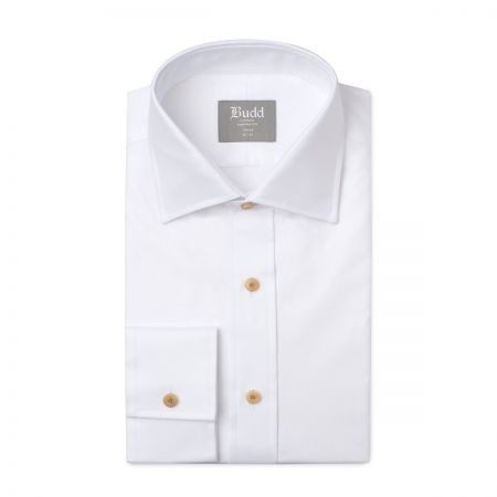 Tailored Fit Oxford Shirt in White