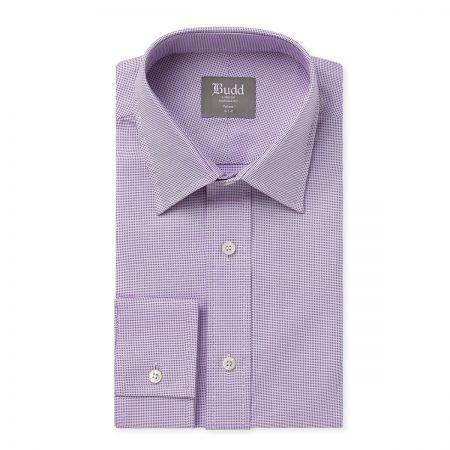 Tailored Fit Panama Shirt in Lilac