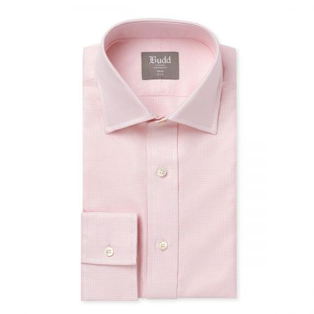 Tailored Fit Panama Shirt in Pink