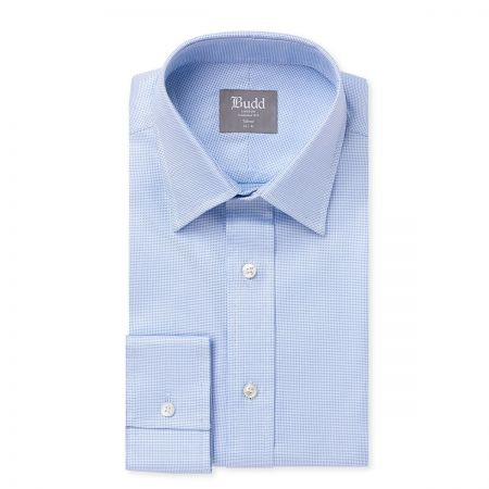 Tailored Fit Panama Shirt in Sky