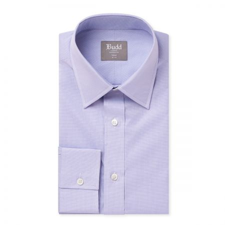 Tailored Fit Zephir Micro Puppytooth Shirt in Lilac