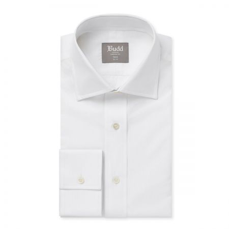 Tailored Fit Plain Poplin B/C in White