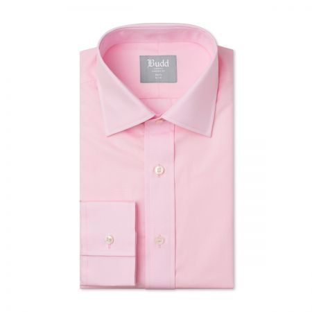 Slim Fit Plain Poplin B/C in Pink