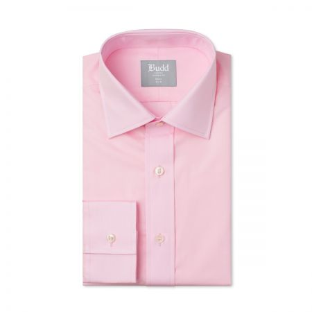 Tailored Fit Plain Poplin B/C in Pink