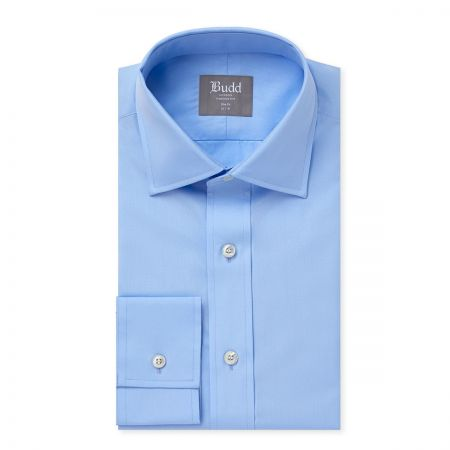 Slim Fit Plain Poplin B/C in Sky Blue