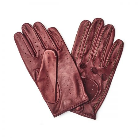 Driving Nappa Gloves in Bordeaux