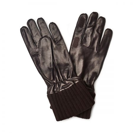 Shooting Nappa Gloves in Brown