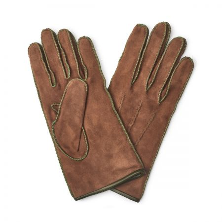 Suede Gloves in Tan