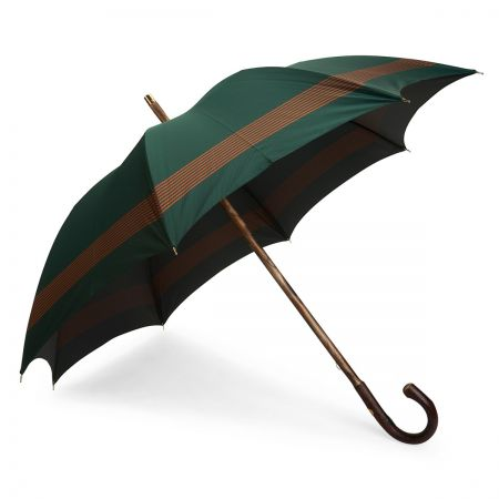 Horizontal Stripe Umbrella in Green and Orange