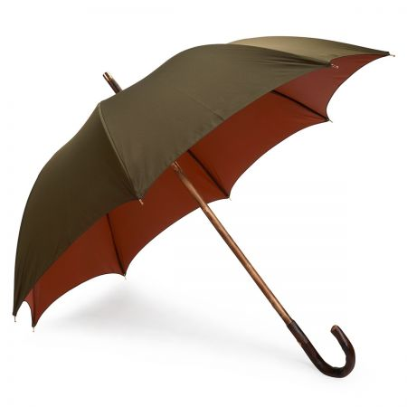 Double Face Umbrella in Olive and Orange