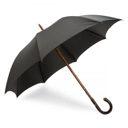 Fine Stripe Umbrella in Black and White