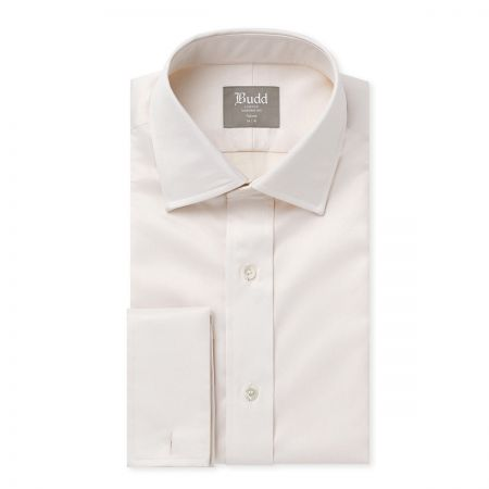 Tailored Fit Twill Shirt in Ivory