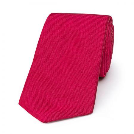 Plain Barathea Tie in Magenta