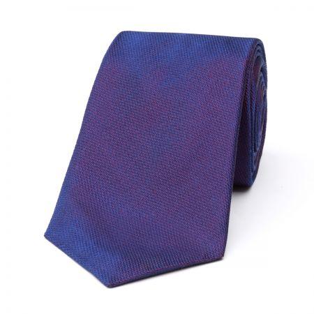 Plain Barathea Tie in Purple