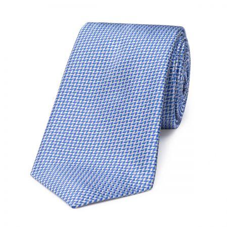 Neat Herringbone Tie in Blue