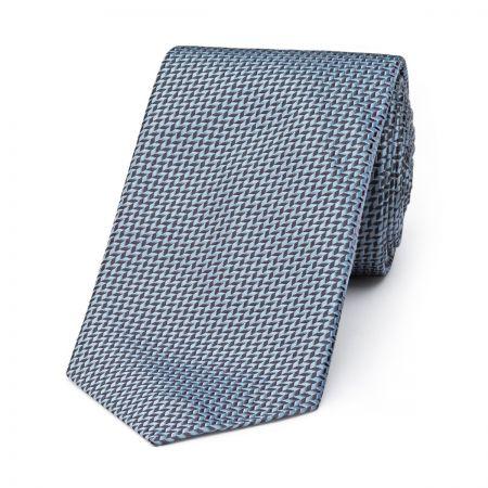 Neat Herringbone Tie in Grey