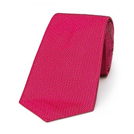 Neat Herringbone Tie in Magenta