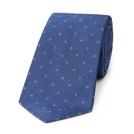 Swallow Silk Tie in Blue
