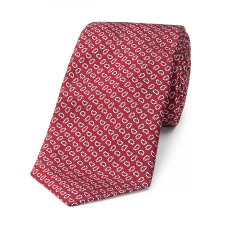 Pine Motif Tie in Red