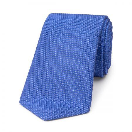 Semi Plain Waves Silk Tie in Blue