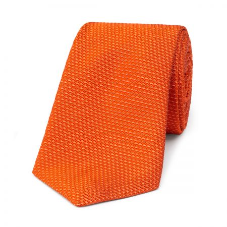 Semi Plain Waves Tie in Orange
