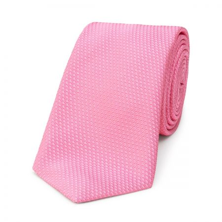 Semi Plain Waves Tie in Pink