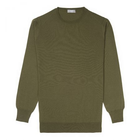 Plain Wool Crew Neck Jumper in Vere