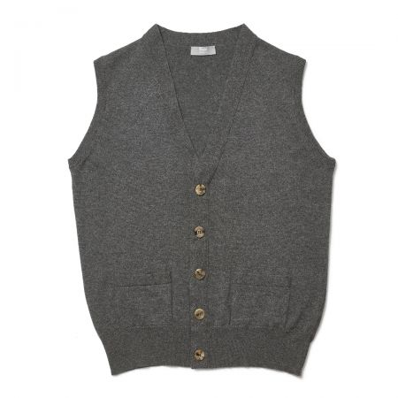 Plain Cashmere Sleeveless Oxton Jumper in Derby