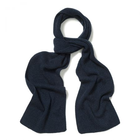 Plain Cashmere Ribbed Scarf in Cosmos