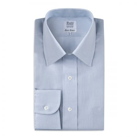 Classic Fit Formal Linen Shirt in Powder Blue