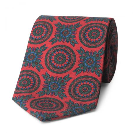Baroque 40oz Madder Silk Tie in Red