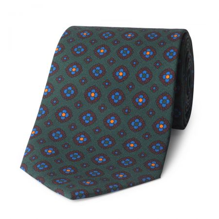 Coffer Madder Silk Tie in Green