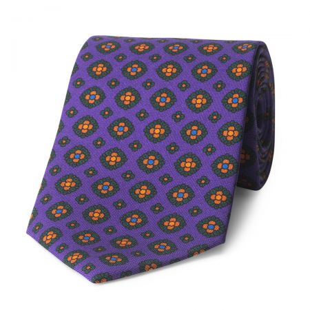 Coffer Madder Silk Tie in Purple