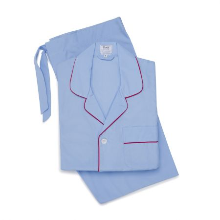 Plain Poplin Pyjamas in Blue