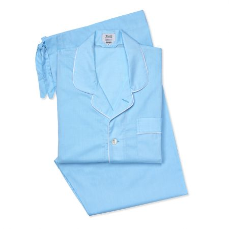 Plain Batiste Pyjamas in Aqua