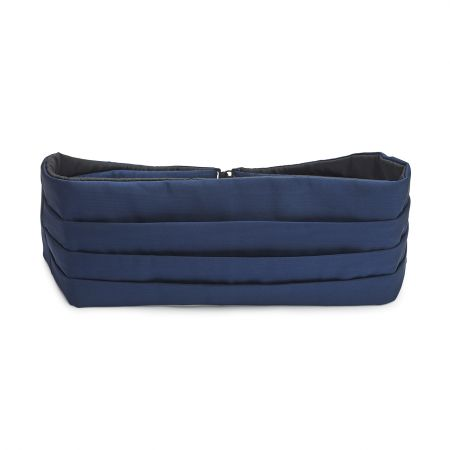 Plain Moire Silk Cummerbund in Navy